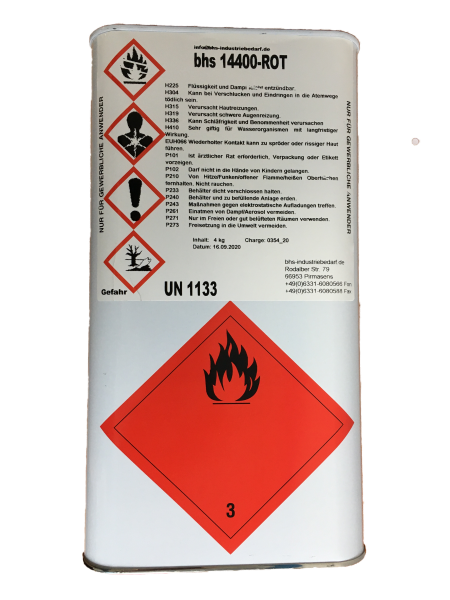 Klebstoff - bhs 14400 - rot - 4 KG