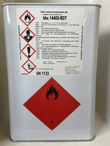 Klebstoff - bhs 14400 - rot - 8,5 KG