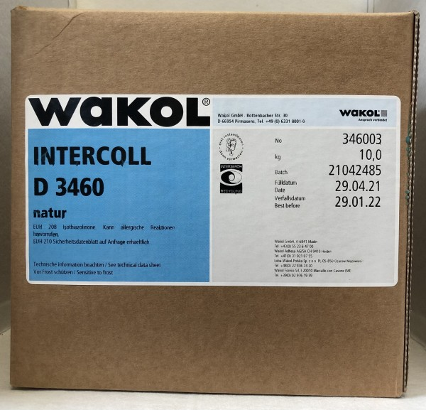 Klebstoff - Wakol Dispersion 3460 - weiß - 10 KG