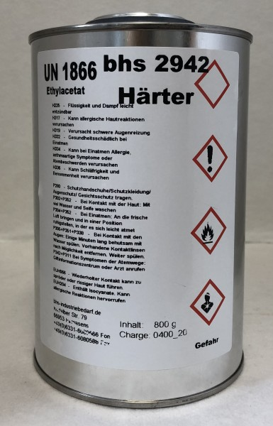 Härter bhs 2942 - farblos - 800 g